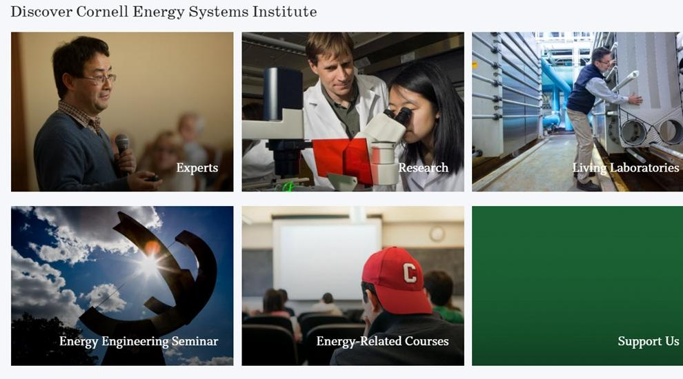 Discover Cornell Energy Systems Institute